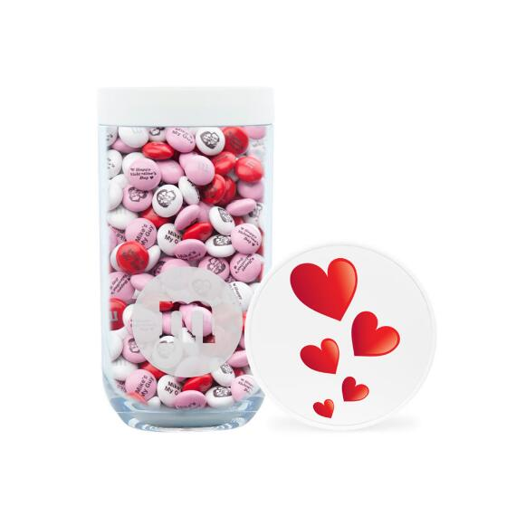 Red Hearts Gift Jar & Personalized M&M'S®