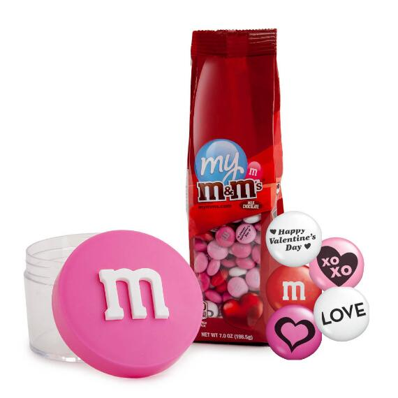 Pink Stack 'm & Valentine M&M'S® Gift Set