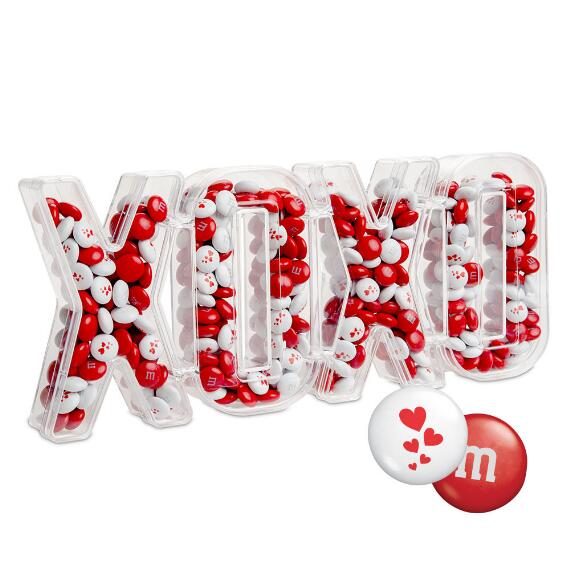XOXO Candy Box with Red & White M&M'S®